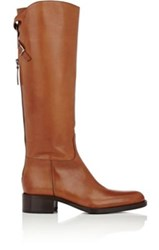 Sartore Women's Back Zip Riding Boots Brown Tan Brown Tan