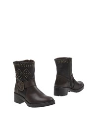 Desigual Ankle Boots Dark Brown