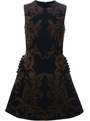 Simone Rocha Baroque Print A Line Dress Black