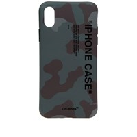Off White Quote Camo Iphone X Cover Green