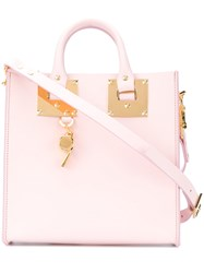 Sophie Hulme Square Albion Tote Women Leather One Size Pink Purple