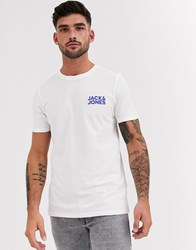 Jack And Jones Essentials T Shirt With Chest Logo In White