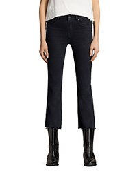 Allsaints Heidi Cropped Flared Jeans In Dark Indigo