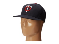 New Era Authentic Collection 59Fifty Minnesota Twins Home Road Baseball Caps Navy