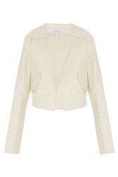 Derek Lam Cropped Leather Jacket