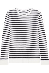 Alexander Wang T By Striped Jersey Top Ivory