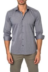 Jared Lang Long Sleeve Solid Semi Fitted Shirt Gray