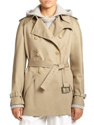 Michael Kors Cotton Gabardine Cape Trench Sand