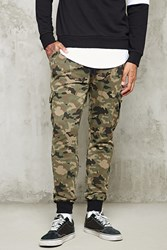Forever 21 Camo Cargo Sweatpants Olive Black