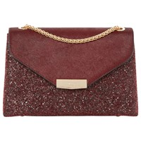 Dune Eddison Envelope Clutch Bag Berry