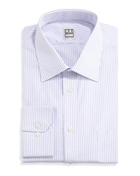 Ike By Ike Behar Long Sleeve Fancy Stripe Dress Shirt Ice Lilac