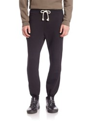 John Elliott Raw Edge French Terry Slim Fit Sweatpants Black