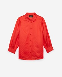 The Kooples Formal Shirt In Silk Blend With Polka Dots