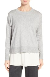 Eileen Fisher Women's Organic Cotton And Cashmere Sweater Dark Pearl