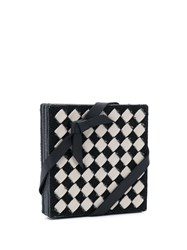 Bottega Veneta Intrecciato Checker Coasters Set Neutrals