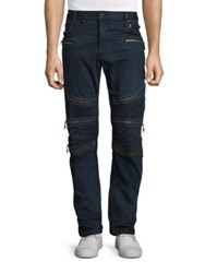 Robin's Jeans Regular Fit Zippered Moto 4 D Black
