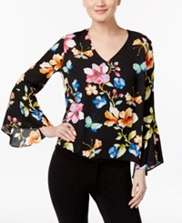 Inc International Concepts Floral Print Bell Sleeve Top Only At Macy's Butterfly Garden