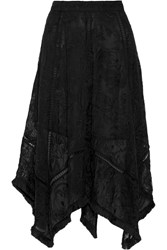 Zimmermann Henna Fringed Embroidered Silk Skirt