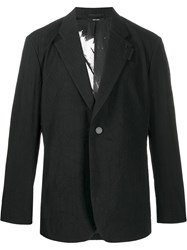 Issey Miyake Single Breasted Fitted Blazer Black