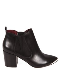 Report Signature Toby Leather Booties Black
