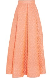 Roksanda Ilincic Pleated Cloque Maxi Skirt Coral