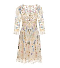 Needle And Thread Flowerbed Embroidered Dress Female Pink