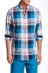 Victorinox Trent Tailored Fit Long Sleeve Shirt Blue