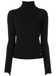 Tory Burch Ribbed Jumper Black