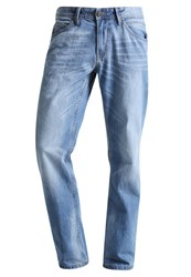 Tom Tailor Denim Atwood Straight Leg Jeans Light Stone Wash Denim Light Blue Denim