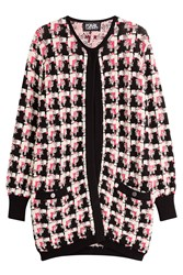 Karl Lagerfeld Chunky Knit Cardigan Multicolor