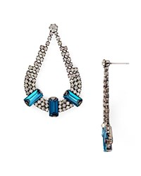 Aqua Hazel Teardrop Earrings Blue Crystal