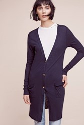 Anthropologie Savera Lightweight Cardigan Navy