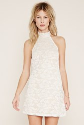 Forever 21 Floral Lace Halter Dress
