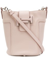 Tod's Double T Bucket Bag Pink