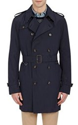 Aquascutum London Aquascutum Men's Seersucker Double Breasted Trench Coat Blue