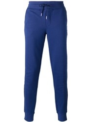 Moncler Slim Fit Tapered Track Pants Blue