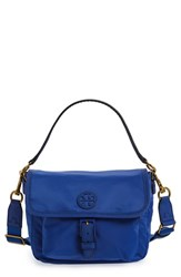 Tory Burch Scout Nylon Crossbody Bag Blue Jewel Blue