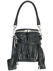 Andrea Incontri Small Fringed Crossbody Bag Black