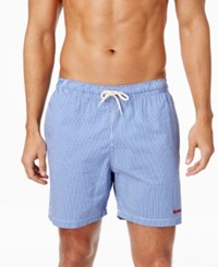 Barbour Men's Striped Swim Trunks Blue
