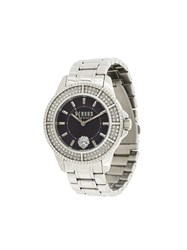 Versus Round Shape Watch Metallic