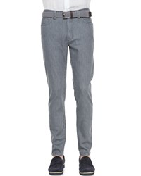 Ermenegildo Zegna Five Pocket Slim Fit Jeans Gray Dark Gray