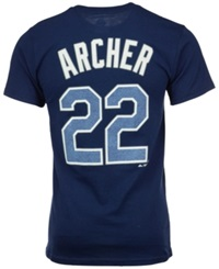 Majestic Men's Chris Archer Tampa Bay Rays Player T Shirt Navy