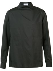 Deveaux Long Sleeve Mock Neck Shirt Black