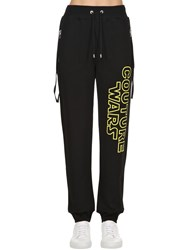 Moschino Couture Wars Printed Cotton Sweatpants Black