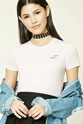Forever 21 Ramen Graphic Tee Pink Black