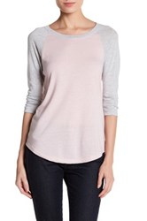 Alternative Apparel Eco Jersey Raglan Baseball Tee Pink