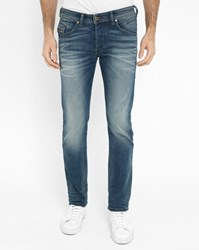 Diesel Faded Blue Bulter Regular Slim Fit Jeans