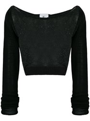 Lost And Found Rooms Cropped Sweater Black