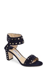 Jimmy Choo Women's 'Veto' Studded Sandal Navy Gold