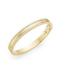 Nadri Rhinestone Bangle Bracelet Gold